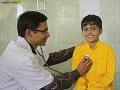 Lékařské vyšetření v nemocnici Sri Swami Madhavananda Austria Hospital vJadanu.