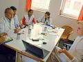 """Spolupráce snemocnicí Sri Swami Madhavananda Austria Hospital vJadanu začala ještě před založením nadačního fondu. 21.2.2012 měla zakladatelka nadačního fondu MUDr. Věra Špatenková, Ph.D první seminář pro lékaře a sestry na téma """"hygienicko-epidemiologický režim""""."""